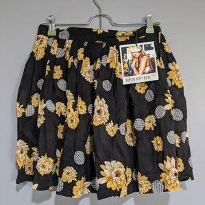NWT MINKPINK floral skirt